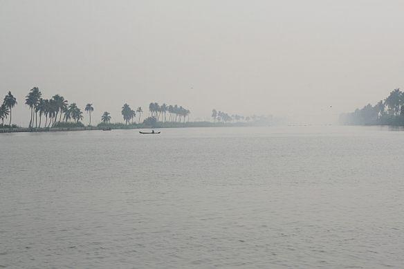 MIsty water Kerala backwaters